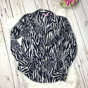 Lilly Pulitzer button front blouse suite 10